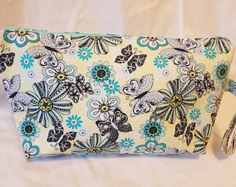 Large Butterflys and Flowers Project Bag #3