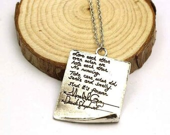 Greys anatomy post-it wedding necklace