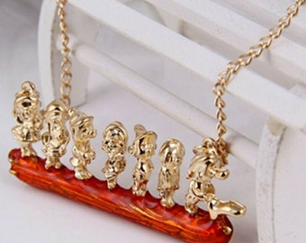 Necklace 7 dwarfs, seven dwarfs