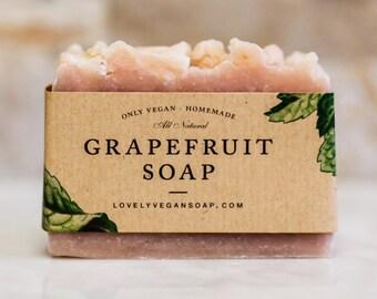 Grapefruit soap, spa gift, vegan soap, homemade soap, Ayurveda soap, dry skin soap, natural soap, handmade soap, spa soap, gift for her