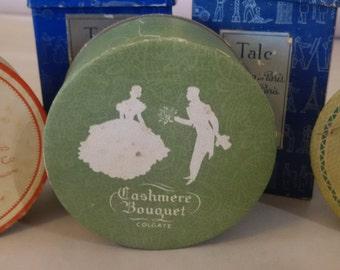 Antique face powder box Cashmere Bouquet Face Powder  unopened vintage cosmetics