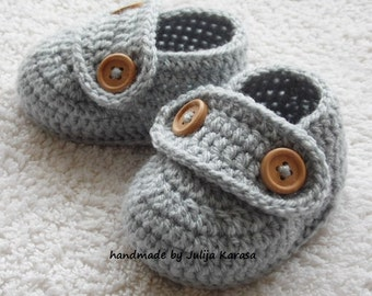 Baby booties crochet, handmade crochet baby shoes, crochet shoes for newborn baby, 0-3 months or 3-6 months, choose your size