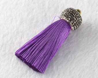 Tassels DIY Craft Supplies Purple Jewelry tassels Chunky tassel Short Boho tassels Small tassels Fringe Trim Womens Gift