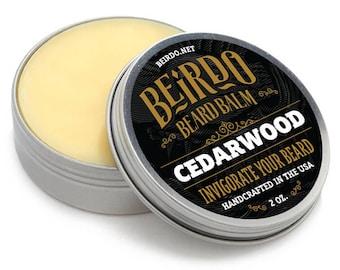 Beard Balm / Cedarwood / 2 oz. / beard oil / beard balm / manly scent / beard care / gifts for men / gifts for him / mens grooming / Beirdo
