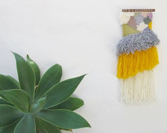Woven Wall Hanging - Yellow Spring Colours