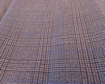 Vintage Plaid 100% Wool Suiting Suit Jacket Trousers Fabric (185cm x 150cm)