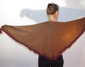 Colored Soft baby Alpaca triangle cloth