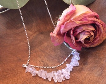 Queen of Wands/Rods Crystal Quartz Sterling Silver Tarot Necklace