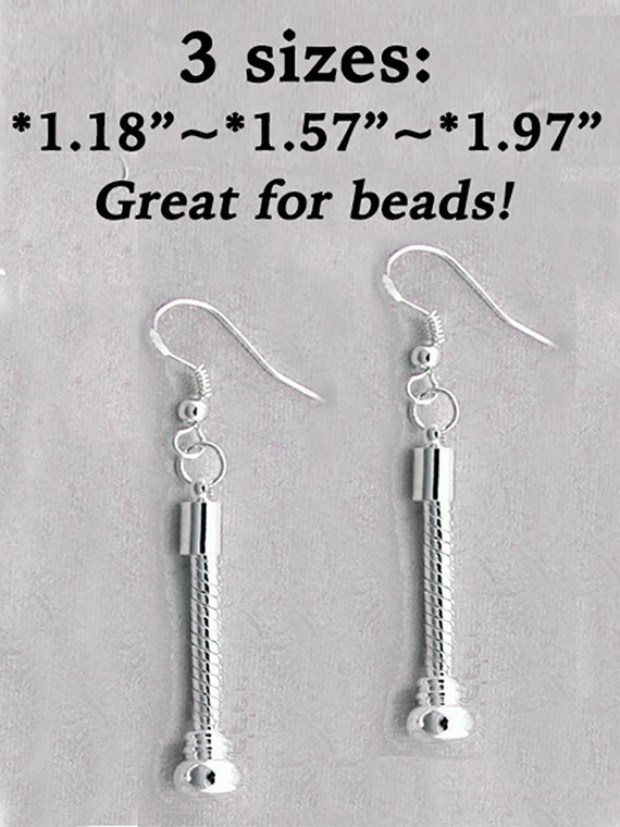Snake Style Silver Plated Earrings, 3 sizes  **FREE SHIPPING**