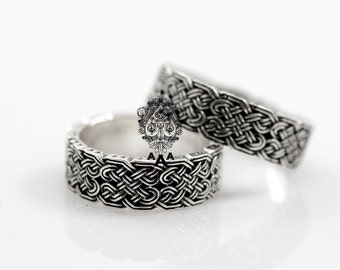 celtic knot ringceltic ringceltic wedding ringsviking jewelrysterling silver - Celtic Knot Wedding Rings