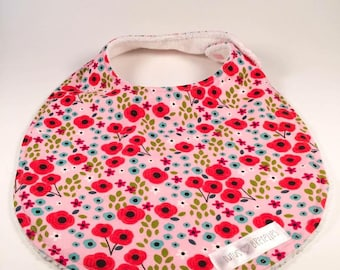 CLEARANCE-bib - red flowers