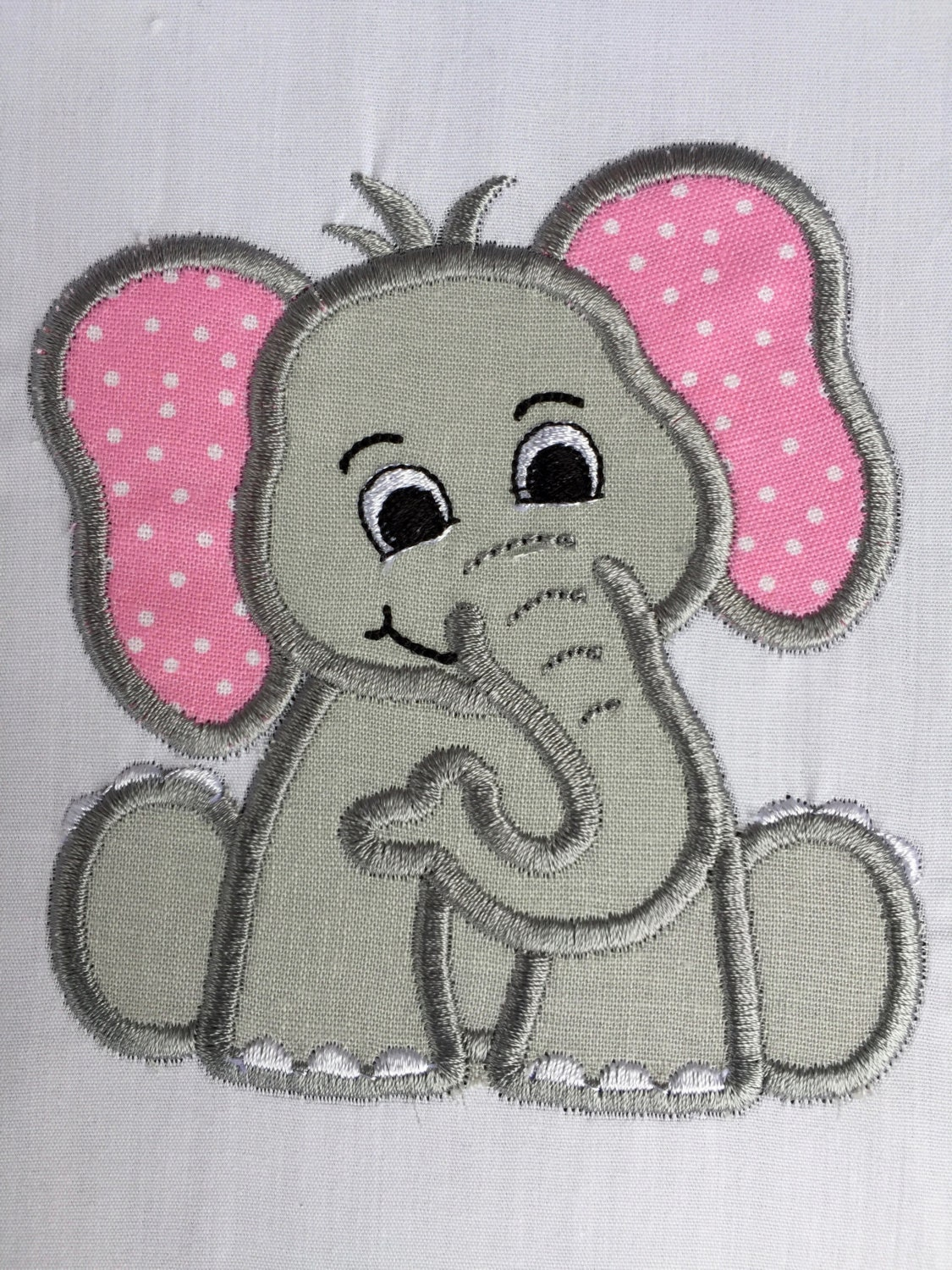 Elephant patch applique embroidered iron