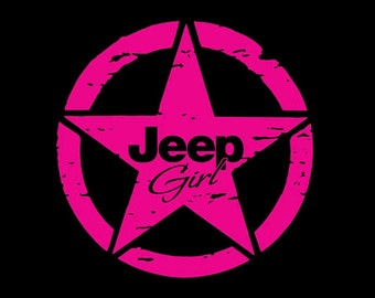 Jeep girl star sticker/decal