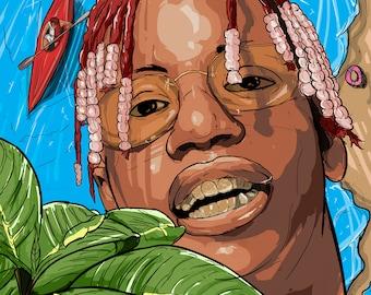 """Lil Yatchy 12"""" x 12"""" Canvas Art Wall"""