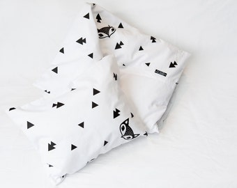 Fox and Triangle Cot Duvet Cover
