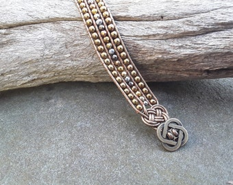 Metallics Leather Wrap Cuff Bracelet