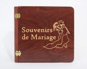 Wooden photo album, Couple (105241)