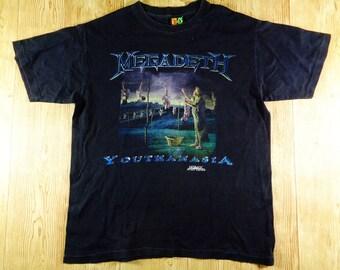 20% OFF Vintage MEGADETH Youthanasia 1994 Hot Ice Tag TShirt Rare