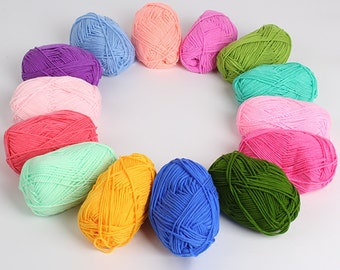 Hot 5 balls/lot natural soft bamboo cotton yarn thick baby yarn for knitting worsted weave crochet yarn wool thread