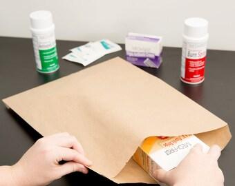 """25 ct Brown Kraft Paper Bag 12X15"""", printable bags, DIY weddings, favor bags, bags, merchandise bags, treat bags, party supplies, wedding"""