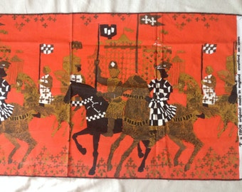 "Tibor Reich ""Stratford On Avon - A tournament""#322A Textile Print"