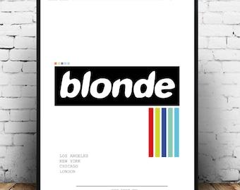 Frank ocean Blonde album cover wall art, Frank Ocean Blonde print poster, Frank Ocean Blonde album art, Frank Ocean fashion Print, Blonde