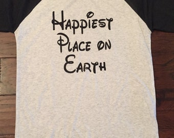 Disney Happiest Place on Earth Raglan Shirt