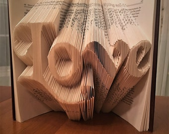 Love, Noel, Hope, Faith Book Folding
