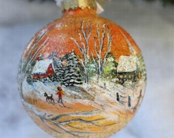 Christmas Hand Painted Ornament - Ornament - Christmas Ornament - Best Friend Gift - Gift for Her - Christmas Gift - Hand Painted Ornament