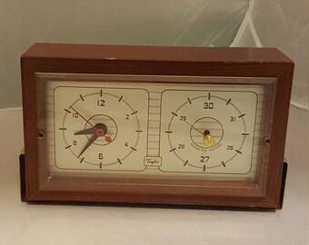 Vintage Taylor mid-century clock/barometer.