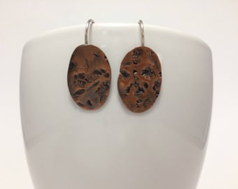Hammered copper ovals