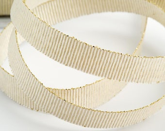 Ivory grosgrain ribbon, white grosgrain ribbon, Ivory Lurex Ribbon, Favour Ribbons, Ribboncraft supplies, 9mm Ribbon, Cardmaking Supplies