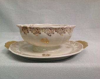 Vintage French Limoges ULIM porcelain soup terrine