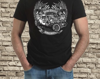 Shake Rattle and roll hot rod t-shirt
