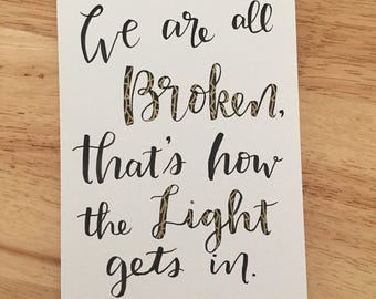 We are all Broken card