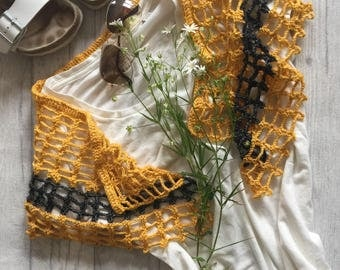 Handmade Cotton Shawlette Summery & Soft