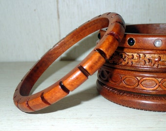 Beautiful  handmade wooden bangle bracelet