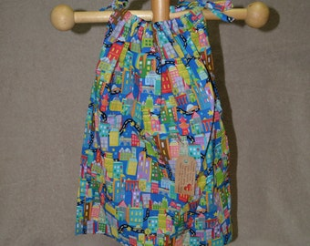 Pillowcase Dress - Sky Scraper Print