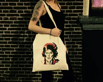 Bowie Canvas Tote Bag (Please read T&T info efore ordering)