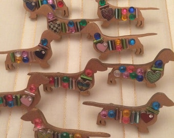 Jeweled Gold Doxies