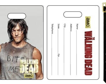 The Walking Dead Cast Daryl Dixon Norman Reedus Bag Luggage Tag