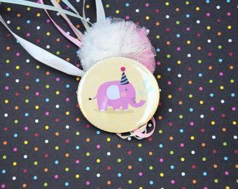 Baby Party Pinback / Button Badges / Baby Elephant Theme / Baby Elephant Pin / Pin buttons