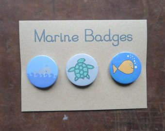 Sea Creature Badges