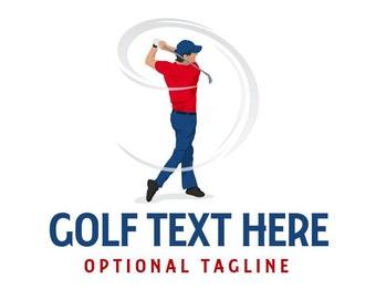 Golf Logo, Golfer Logo, Golf Business Logo, Premade Logo, Custom Logo, Logo Design