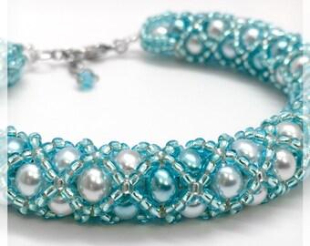 Teal Beaded Bracelet