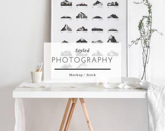 Styled Mockup Photography - White Minimal Stock Frame