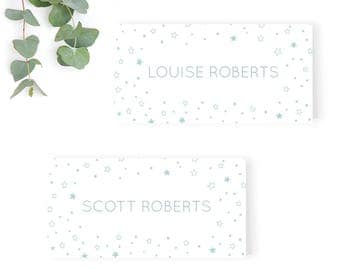 Once Upon a Time Wedding Name Place Card