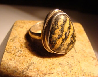AGATE OVAL RING-
