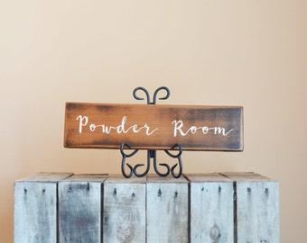 Powder Room Signs Etsy