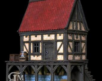 Medieval house 4 (ech 30mm, resin kit)